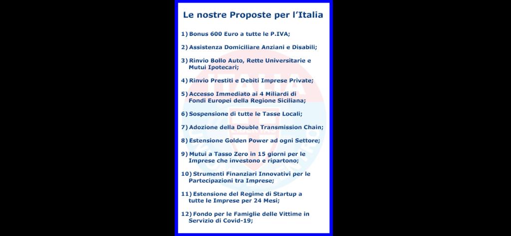 """Decio Terrana (Udc Sicilia): """"Il Governo non perda più Tempo, è l'ora del Coraggio: ricostruiamo l'Economia Italiana"""""""